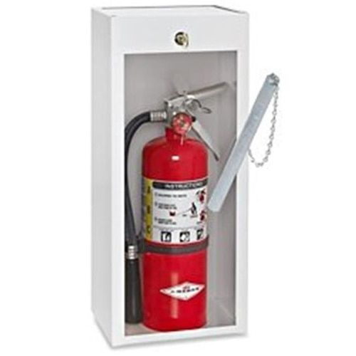 Big Daves Yard Sale 710822944115 20 lbs Samson Fire Extinguisher Cabinet with Cylinder Lock & Breaker Bar - Lot of 2