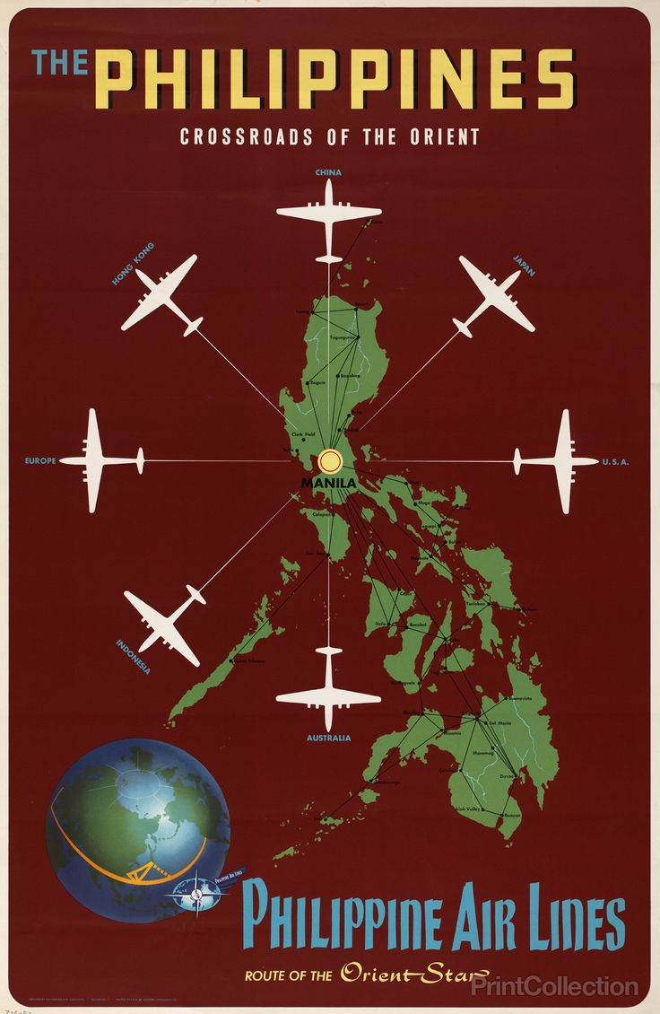 The Philippines, crossroads of the Orient Philippine Air Lines, route of the…