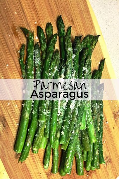 Easy Parmesan Asparagus recipe! Also check out to learn how to properly prepare asparagus.