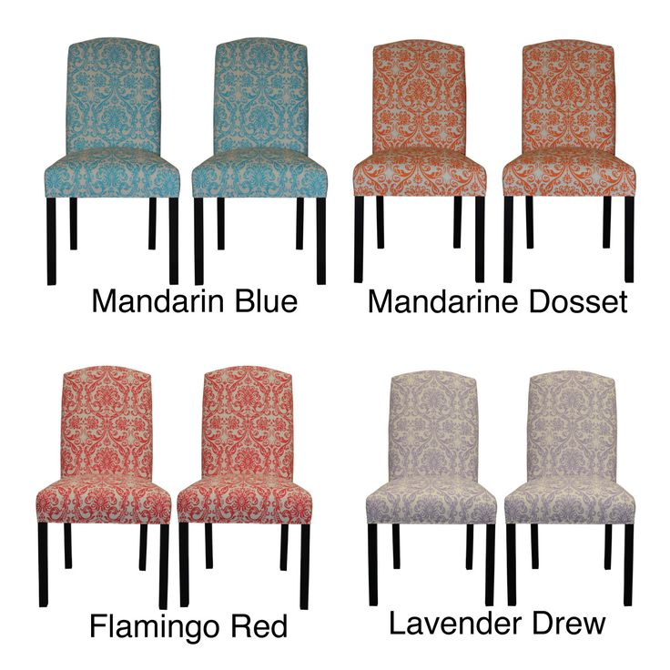 Available in several vivid colors, this set of two dining chairs is the perfect accompaniment to any stylish dining table. The comfortable fire-retardant seat cushion and backrest creates a calming place to relax after a long day.