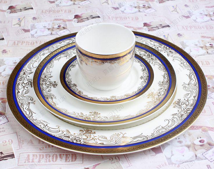 West tableware bone china dinnerware set porcelain tableware personalized cutlery gift embossed quality west tableware US $267.09