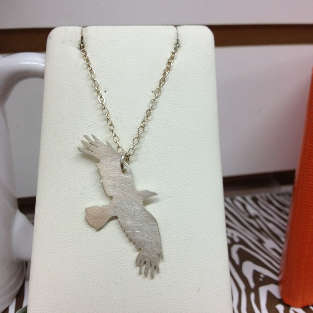 Crow necklace from Presents of mind on Hawthorne!Crows Necklaces