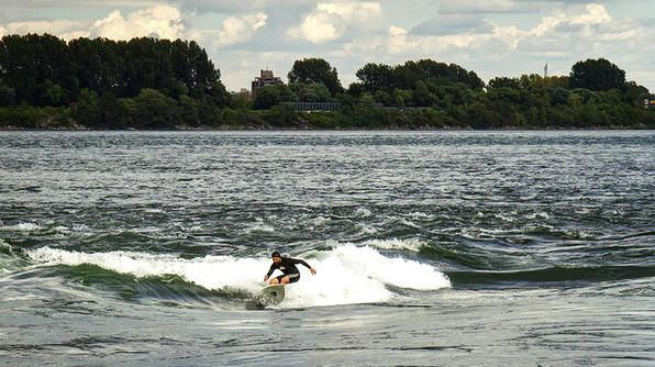 Did you know you could surf in Montreal? There are a few spots on the St. Lawrence River with standing waves that you can actually surf!