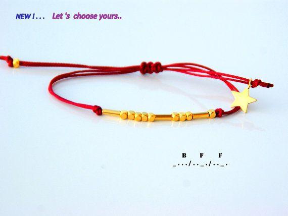 Morse code bracelet-BFF morse code bracelet-Sister morse code