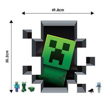 Amazon.co.jp : ウォールステッカー Minecraft マインクラフト 壁紙シール リボンシール付50.2cm*49.8cm : ホーム&キッチン