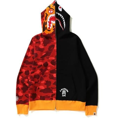 1eb3cbe8 Bape Color Camo Tiger Shark Full Zip Hoodie-Urban Necessities ...