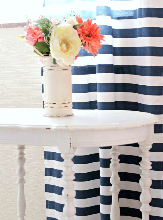 Navy Baby Girl Bedding Stripe and Floral Chic by LottieDaBaby