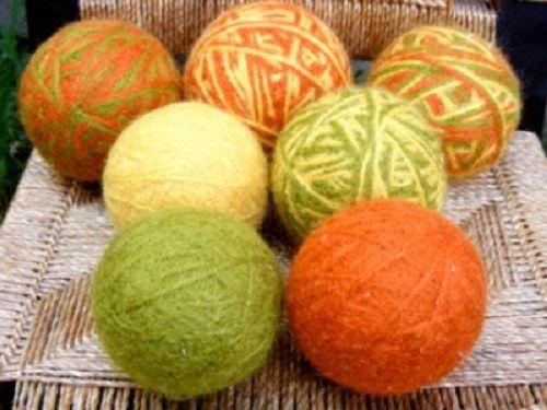 Ideas ecológicas: bolas de lana secadoras para la lavadora