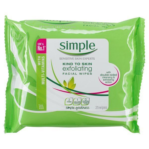 Simple Kind To Skin Exfoliating Facial Wipes 25s