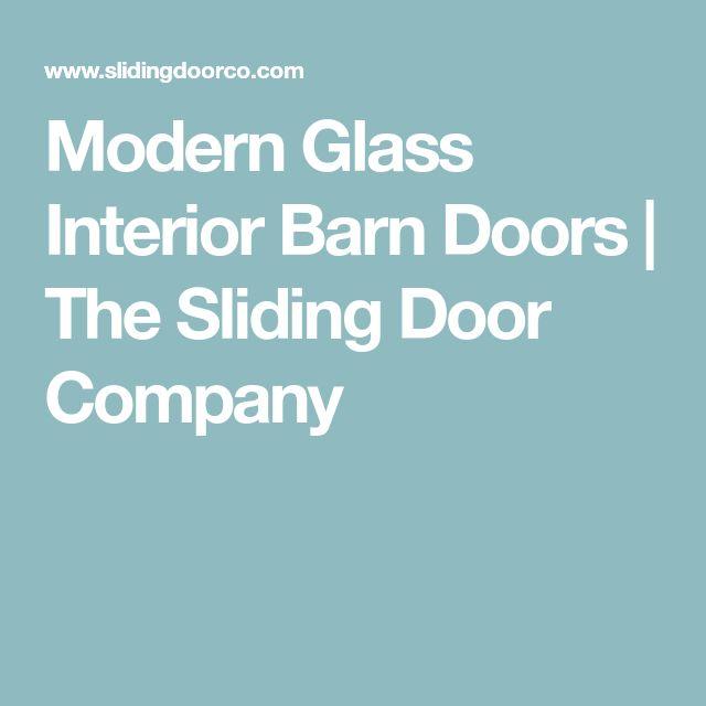 Modern Glass Interior Barn Doors | The Sliding Door Company