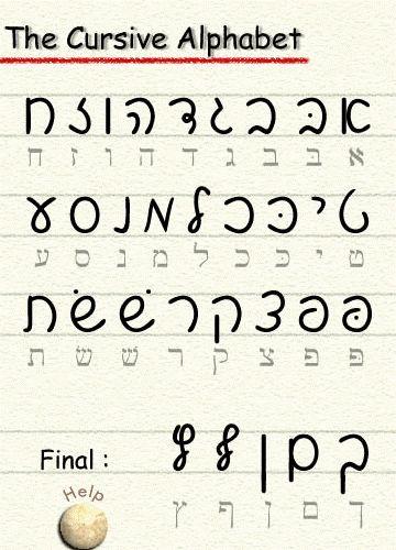 script alef bet