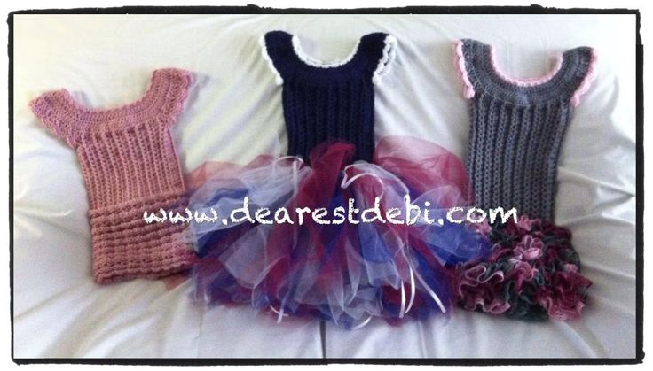 Crochet Dresses - Little Miss Dresses by Dearest Debi