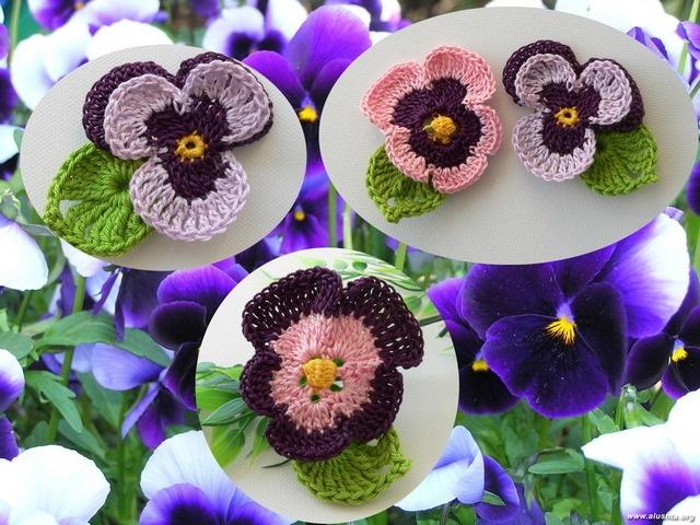 66 besten Blüten und Co. Häkeln Bilder auf Pinterest | Stricken und ...