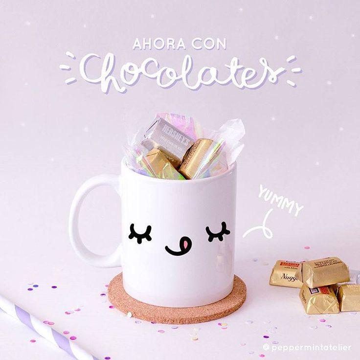 ¡Siii! Ahora a tu pedido puedes agregarle deliciosos chocolates para completar el regalo perfecto 😃 . Escríbenos a nuestro inbox, a través de facebook o a info@peppermintatelier.com para hacer tu pedido. *Solo para pedidos en Cartagena.  #PeppermintAtelier #tiendaonline #conceptstore #tiendaderegalos #giftshop #Cartagena #Colombia #mugs #chocolates #gift