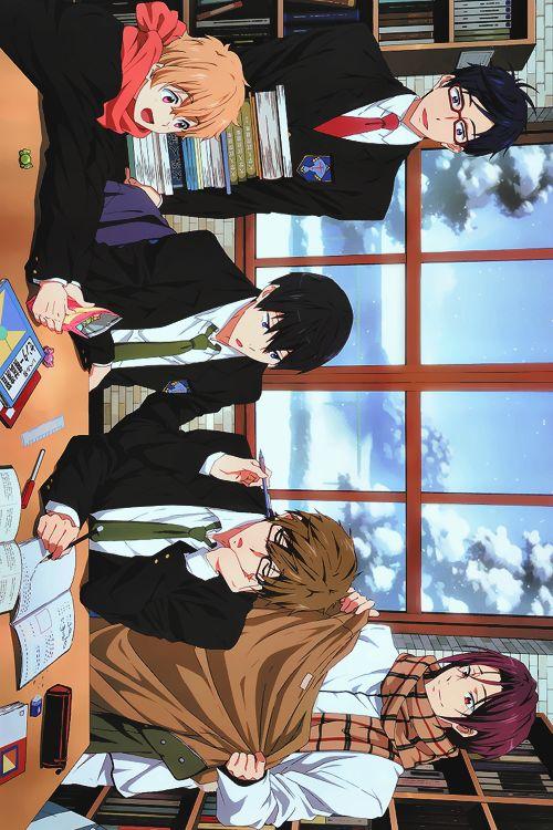 Hazuki Nagisa, Ryugazaki Rei, Nanase Haruka, Tachibana Makoto, Matsuoka Rin