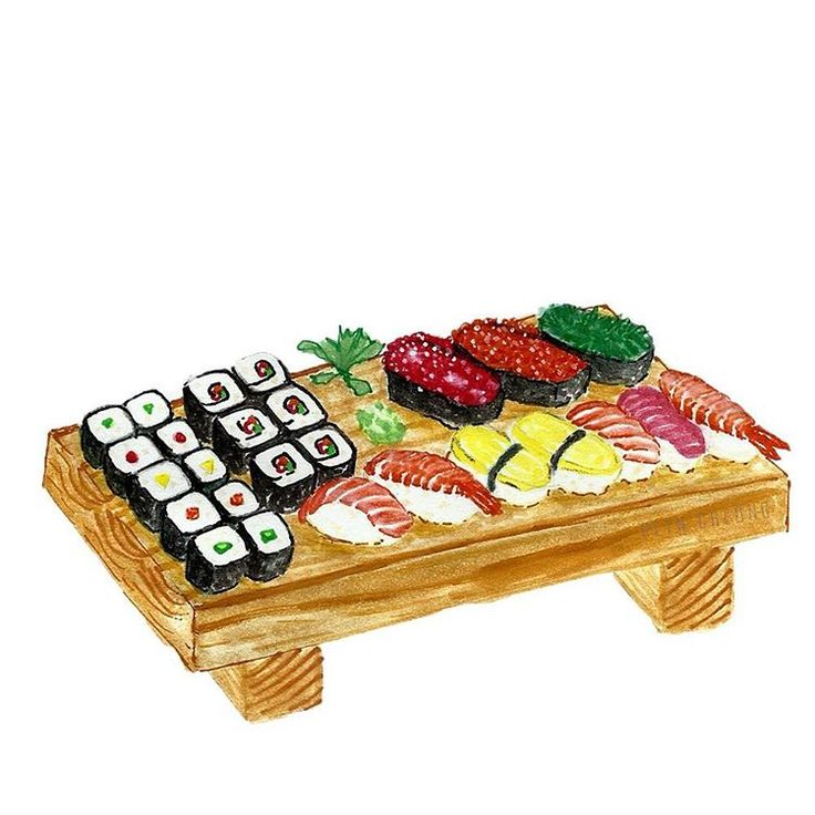 水彩绘之什锦寿司拚盘。 Sushi Platter~ #nigiri #sushi #japanesefood #foodsketch #foodillustration #lifegoal #draw #painting #gouache #colourpencil #mixedmedia #artwork #love. #illust. #ilustración. #일러스트 #artsy #イラスト. #画 #绘 #彩绘 #design. #artoftheday. #simplicity #foodporn