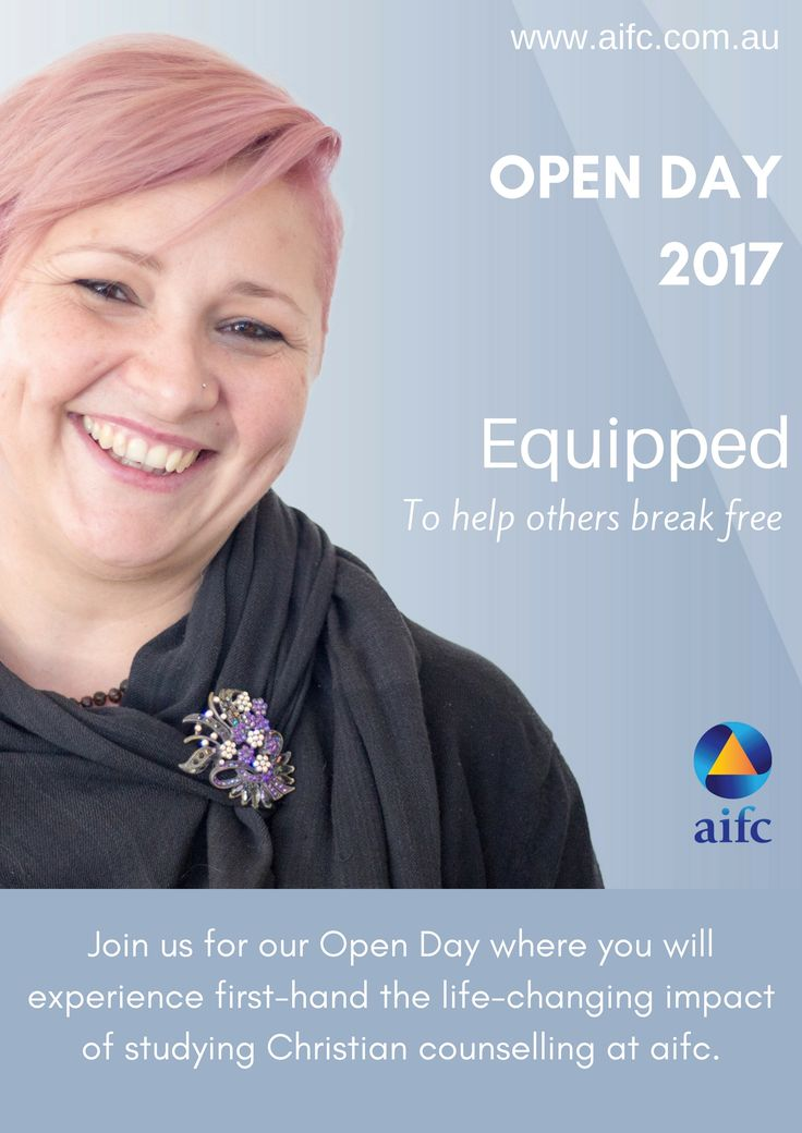 Join aifc for our open day. Learn about our accredited Christian counselling courses. Talk to our trainers and some of our students.