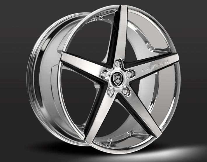 ------- Lexani Concave Series ------- LEXANI R-FOUR custom - chrome and black finish