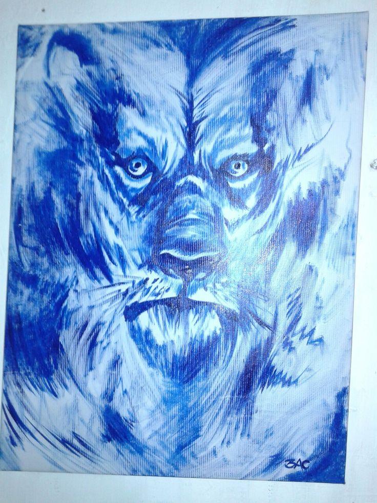 Lienzo...a pincel pintura acrilica
