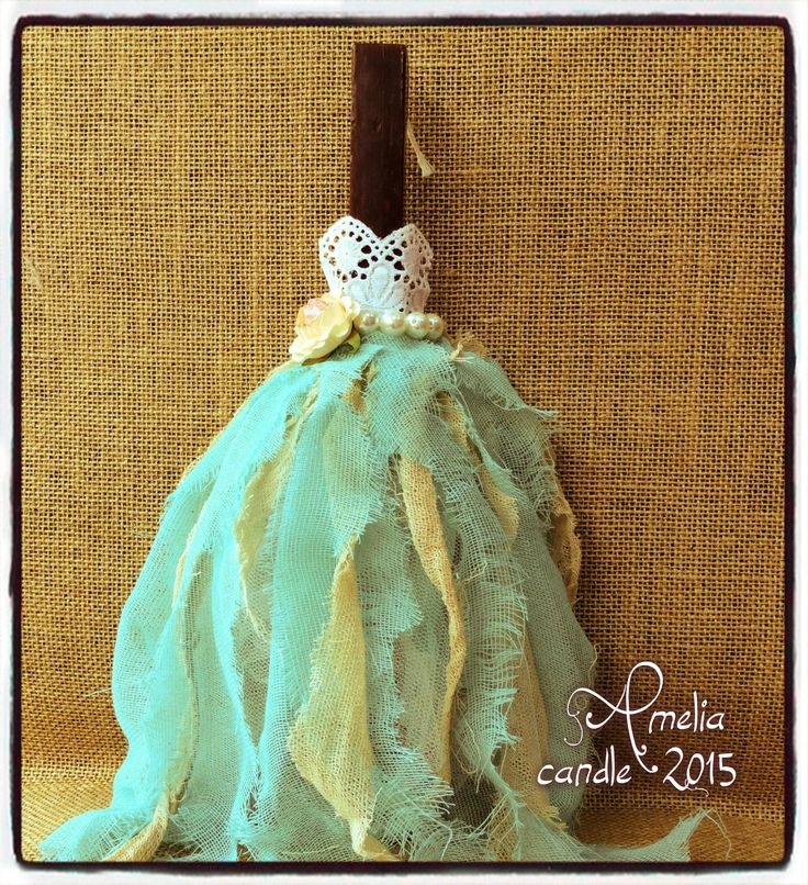 vintage dress easter candle