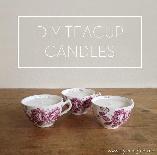 DIY TEACUP CANDLES: Diy Candles, Style, Candles Emergency, Green, Teacup Candles, Emergency Candles