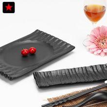 Melamina Plato de Sushi de estilo japonés negro engrosada buffet restaurante sala, restaurante olla caliente vajilla plato de pescado A La Parrilla(China (Mainland))