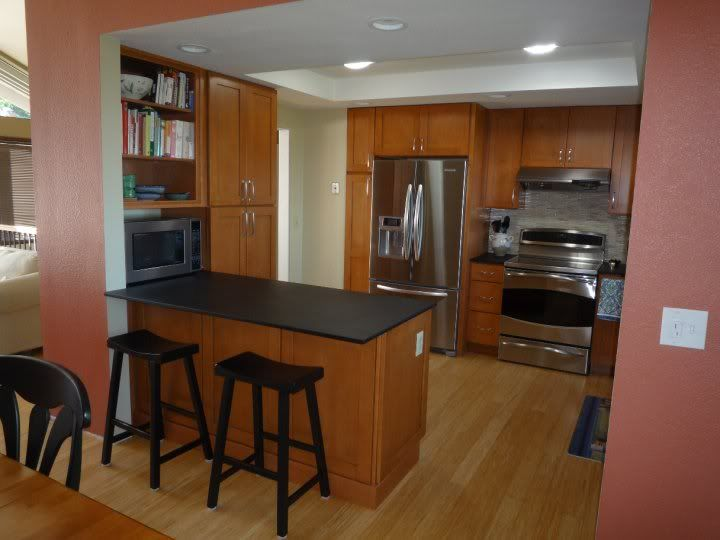 Split level kitchen before after our diy not so big for Kitchen designs for split level homes