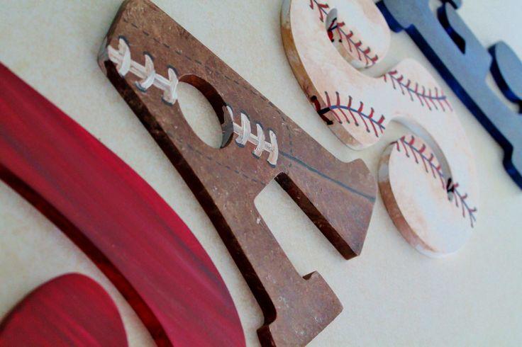 Vintage Varsity Sports Themed Hand Painted by KraftinMommy on Etsy, $17.00
