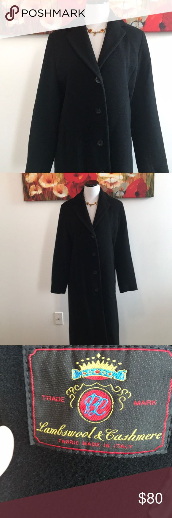 Vintage Bill Blass Cashmere/Wool Coat This coat is in such good vintage condition. It's a sophisticated and classic staple. Shoulder to hem measures approximately 47 inches. Right pocket is sewn shut and shown in pictures (last two pics). Preowned but a wonderful vintage piece. Please feel free to ask any and all questions Bill Blass Jackets & Coats Trench Coats