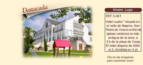 G641 San Pedro de Viveiro. Lugo.  Hotel en venta