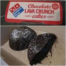CHOCOLATE LAVA CAKE  Domino's Pizza Copycat Recipe   Serves: 4   Chocolate Lava Cake:  6 tablespoons all purpose flour  4 ounces semi sw...