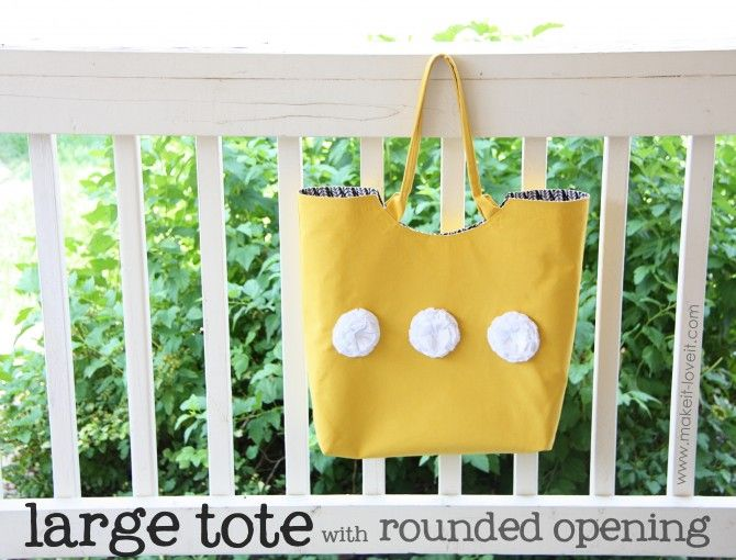fun tote: Free Handbags, Totes Tutorials, Totes Patterns, Round Open, Fabrics Patterns, Totes Bags, Large Totes, Sewing Ideas, Handbags Patterns
