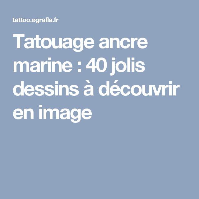 Tatouage ancre marine : 40 jolis dessins à découvrir en image