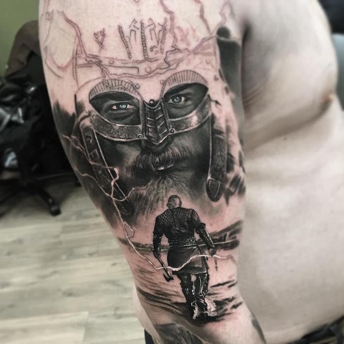 1001 + modèles de tatouage homme uniques et inspirants | Viking warrior tattoos, Sleeve tattoos ...