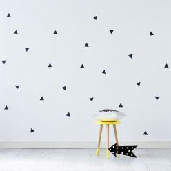 Adairs Kids Removable Wall Stickers Charcoal Triangles, wall stickers, removable wall stickers