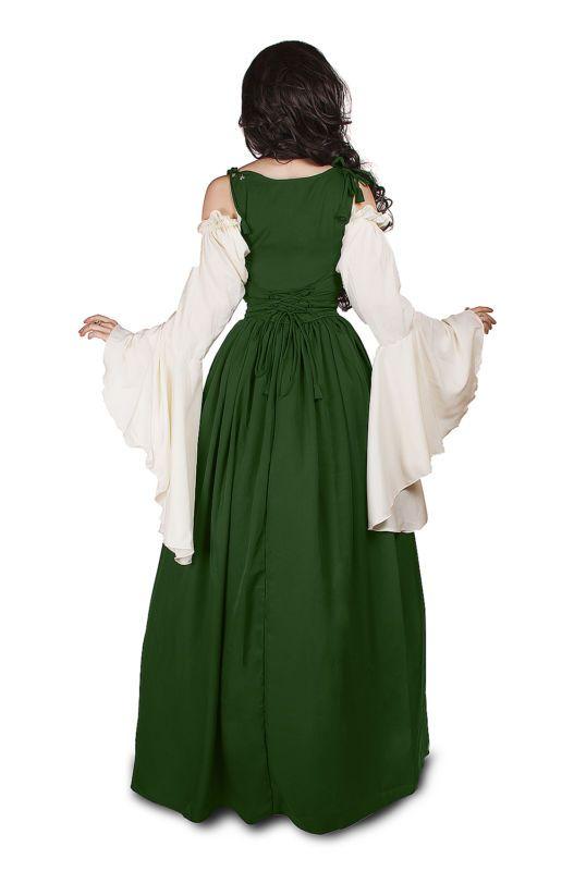 Renacimiento Medieval Disfraz irlandés a lo largo de Idd Vestido Corpiño ajustado