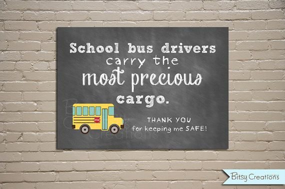 50% OFF SALE Bus Driver Chalkboard Printable by BitsyCreations