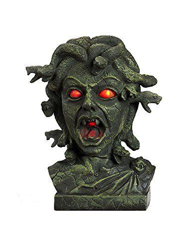 Animated Medusa Bust w/ Light Up Eyes Standard Halloween http://www.amazon.com/dp/B0096XOE1I/ref=cm_sw_r_pi_dp_2lwmub1ZM0JSK