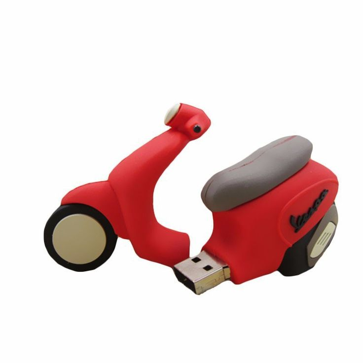 cute red motorcycle pen usb flash