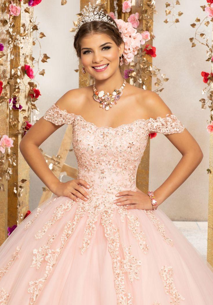 Floral Off Shoulder Quinceanera Dress By Mori Lee Vizcaya