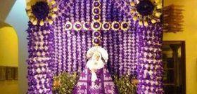 Altar a la Virgen de Dolores, tradición que se preserva en Oaxaca desde el siglo XVI