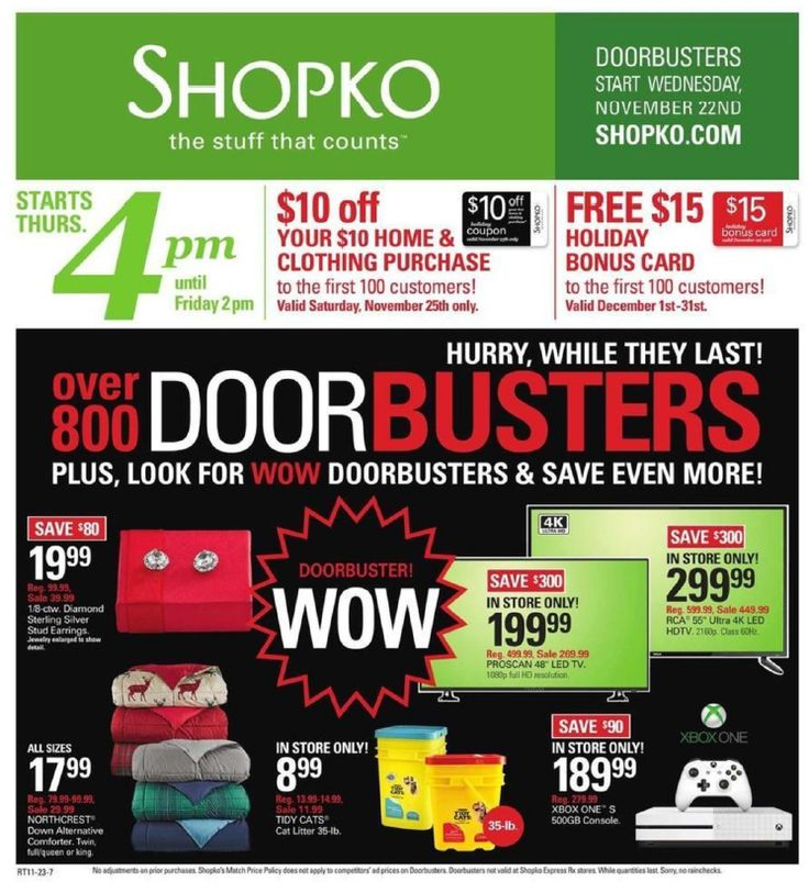 Shopko Black Friday Deals 2017 – Full Ad Scan Leaked http://gazettereview.