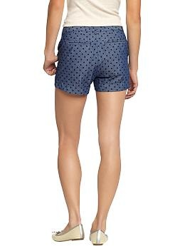 polka dot chambray shorts.Dots Chambray, Chambray Shorts, Polka Dots