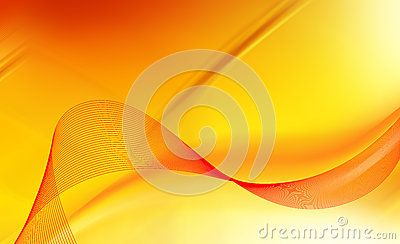 Yellow lights and red abstract background.