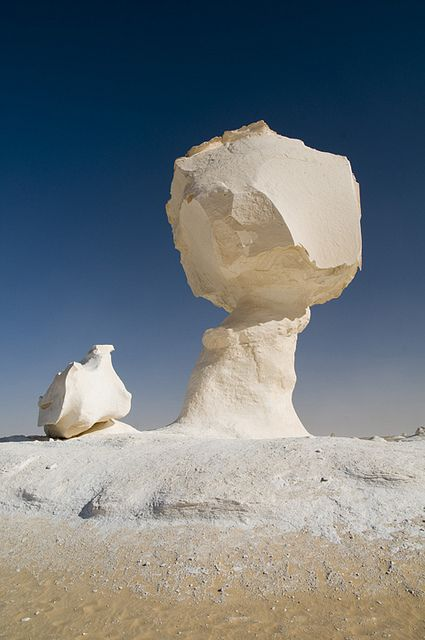 White Desert in Egypt...so awesome looking, would be so memorable to see first hand! #treasuredtravel