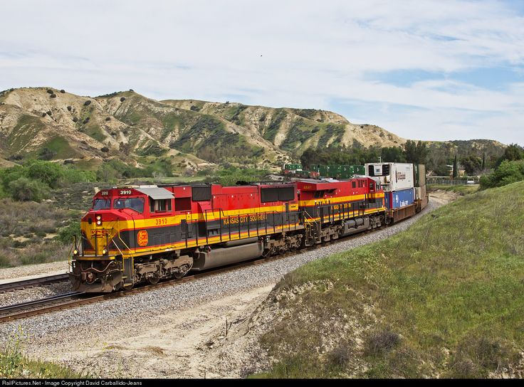 RailPictures.Net Photo: KCS 3910 Kansas City Southern Railway EMD SD70MAC at Ordway, California by David Carballido-Jeans