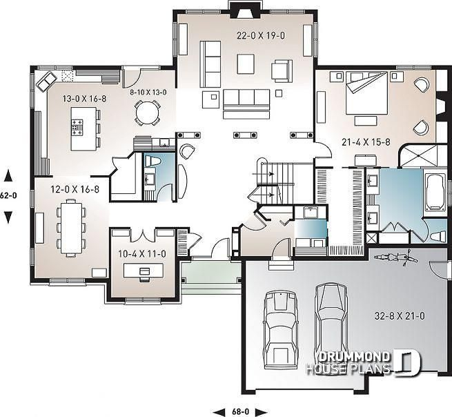 Discover The Plan 2661 Lancaster Which Will Please You For Its 3 4 Bedrooms And For Its Farmhouse Styles Shed House Plans Drummond House Plans House Plans American house floor plan