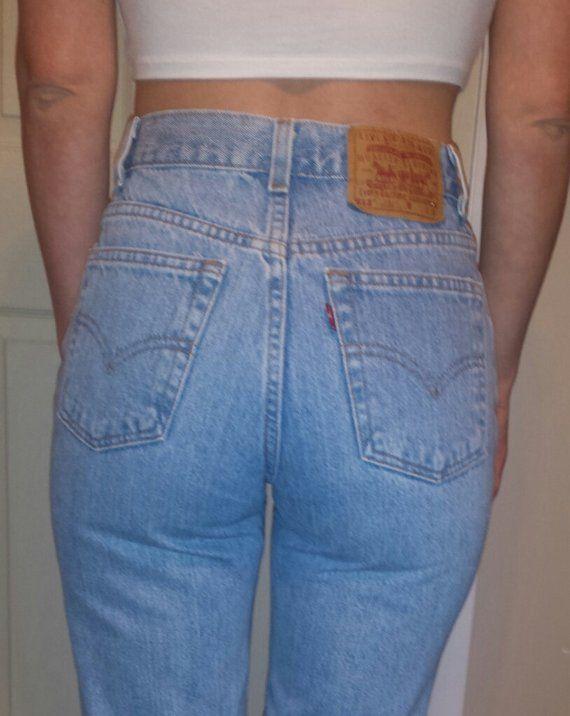 a872b1b45f LEVI'S HIGH WAIST Vintage Denim Jeans Light Blue Wash Gift Women 2 3 4 5 6  7 8 9 24 25 26 27 28 29 3