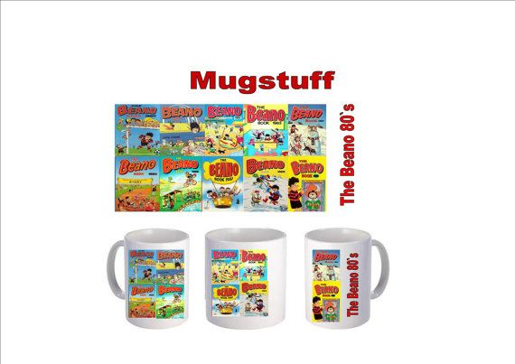 Picture Mug which can be Personalised The Beano 1980s by Mugstuff, £5.00