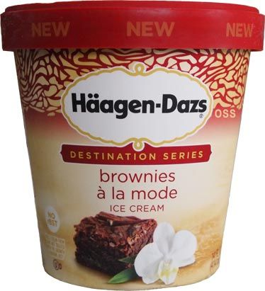 On Second Scoop: Ice Cream Reviews: Haagen-Dazs Brownies a la mode Ice Cream